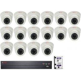 16 dome kamerás AHD CP PLUS rendszer