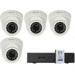 4 dome kamerás AHD CP PLUS rendszer