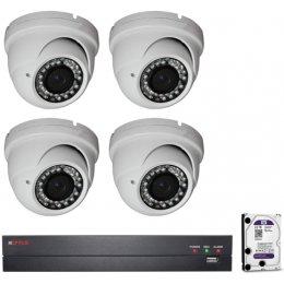 4 vari. dome kamerás HDCVI CP PLUS rendszer