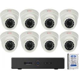 8 dome kamerás AHD CP PLUS rendszer