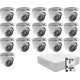 16 dome infrakamerás HIKVISION HDTVI