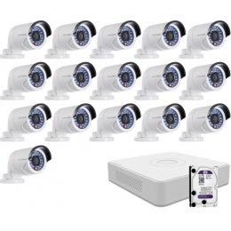 16 infrakamerás HIKVISION HDTVI