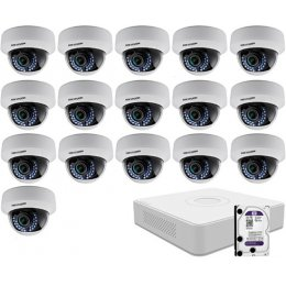 16 varifokális dome infrakamerás HIKVISION HDTVI