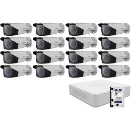 16 varifokális infrakamerás HIKVISION HDTVI