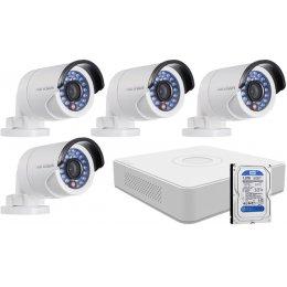 4 infrakamerás HIKVISION HDTVI