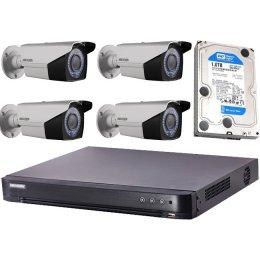 4 varifokális infrakamerás HIKVISION HDTVI