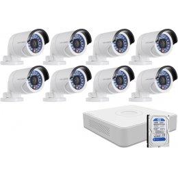 8 infrakamerás HIKVISION HDTVI