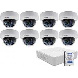 8 varifokális dome infrakamerás HIKVISION HDTVI