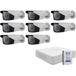 8 varifokális infrakamerás HIKVISION HDTVI